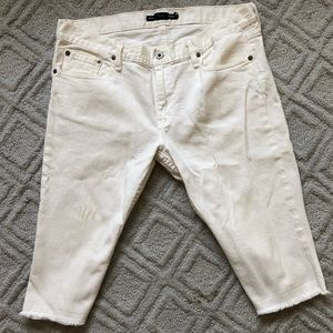 White Ralph Lauren Sport Capris